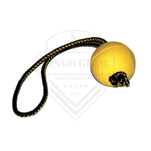 gumijasta žoga z ročajem iz vrvice